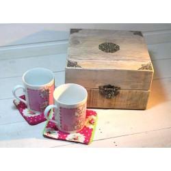 Boîte à thé plus mug en...