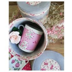 Coffret cadeau thé avec mug en porcelaine