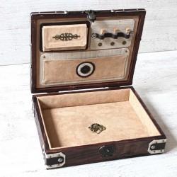 Boîte pour magicien, vide poche rose des vents