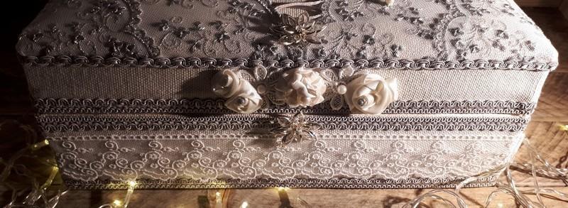 Grande boite à bijoux entièrement fait main shabby chic