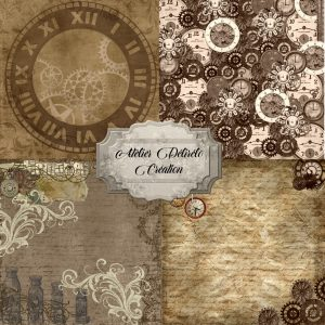 pack papier imprimable steampunk