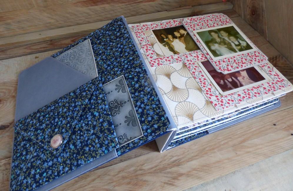 album photos sur mesure eco-cuir bleu
