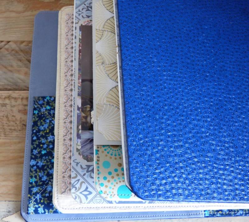 livre photos sur mesure papier japonais bleu